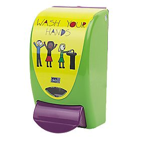 Deb Childrens Soap Dispenser Green 1Ltr