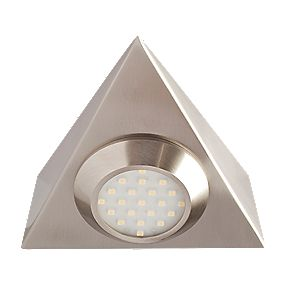 Robus Triangular Cabinet Downlight Brushed Chrome 2W