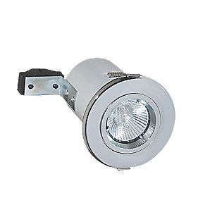 Robus Fixed Round Fire Rated Downlight Polished Chrome 240V Pack of 10