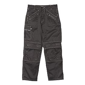 "Site Terrier Classic Work Trousers Black 34"" W 32"" L"