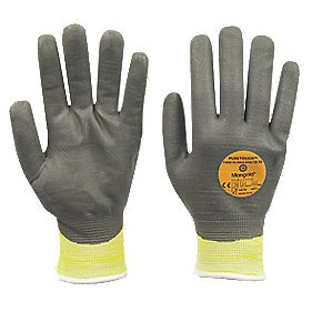 Marigold Industrial Puretough P3000 Cut 3 PU Nitrile-Coated Fully Dipped Gloves Grey / Yellow Large