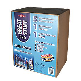Dow Great Stuff Pro Gun Foam Window & Door Fixer Kit
