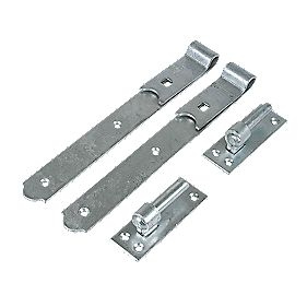 Gate Hinge Pr Straight Spelter Galvanised 50x300x140mm