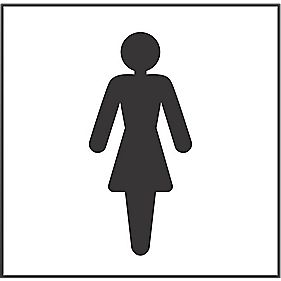Ladies Toilet Symbol Sign 150 x 150mm