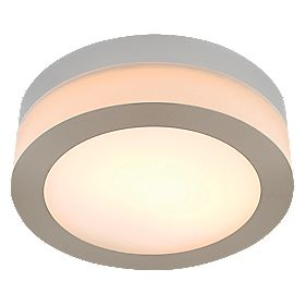 Deva Bathroom Ceiling Light Large Brushed Chrome Effect G9 40W