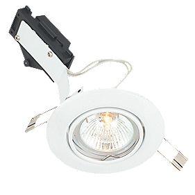LAP Tilt Round Low Voltage Downlight Gloss White 12V