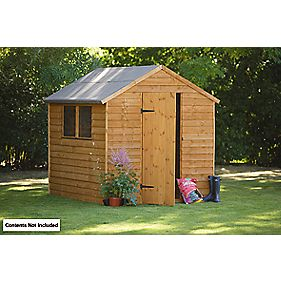 Forest Larchlap Premium Overlap Apex Shed 6 x 8 x 7' (Nominal)