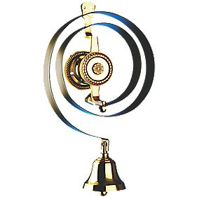 Bryon Mechanical Butlers Bell Black/Brass
