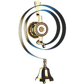 Bryon Mechanical Butler's Bell Black/Brass
