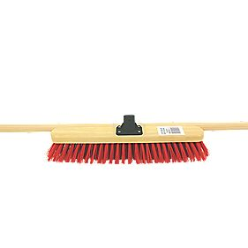 "Stiff Broom with Wooden Handle 18"" x 115mm"