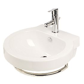 Ocean Wall-Mounted Bathroom Basin 1 Tap Hole 513mm