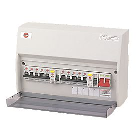 Wylex 10-Way High Integrity Consumer Unit & 10 MCBs