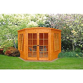 Corner Summerhouse Assembly Included 2.1 x 2.1 x 2.1m