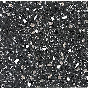 Apollo Slab Tech Black Rose Worktop w/ 1½ Bowl White Sink 2500 x 625mm