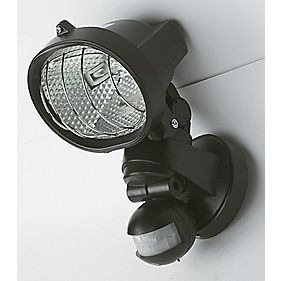 Polaris 120W Black PIR Photocell Floodlight