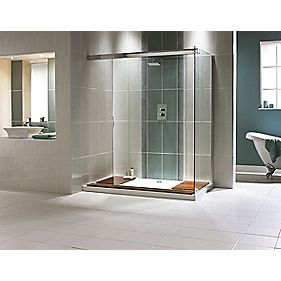 Aqualux Walk Through Corner Shower Enclosure & Tray