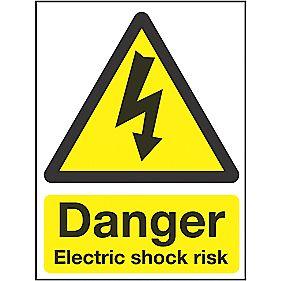 """""""Danger Electrical Shock Risk"""" Sign 200 x 150mm"""