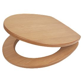 Soft-Close Toilet Seat MDF Oak Veneer