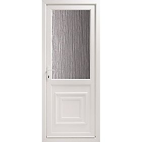 2xG Double-Glazed Back Door Translucent Glass RH uPVC 840 x 2085mm