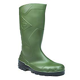 Dunlop Devon H142611 Wellington Boots Green Size 10