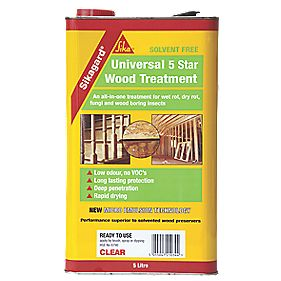 Sikagard Universal 5 Star Wood Treatment Clear 5Ltr