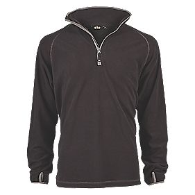 "Site Beech Microfleece Pullover Black Medium 43"" Chest"