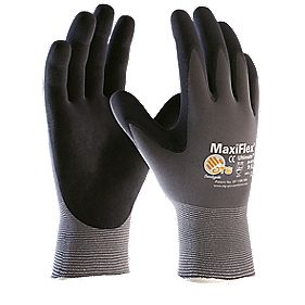 ATG Maxiflex Ultimate Stretch Nylon & Nitrile Gloves Grey Large