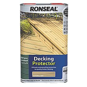 B and Q Decking Protector Natutral Oak 5Ltr