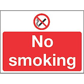 """No Smoking"" Sign 400 x 600mm"