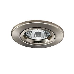 JCC Lighting Fixed Round Fire Rated Recessed Downlight Satin Nickel 240V