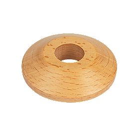 Unika Real Wood Pipe Collars Beech Pack of 2