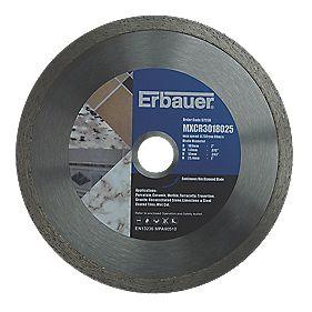 Erbauer Diamond Tile Blade 180mm x 25.4mm Bore
