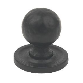 Carlisle Brass Traditional Knob Hammered Antique Black 27mm
