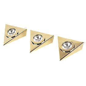 34746 Undershelf Light Kit Brass Pack of 3