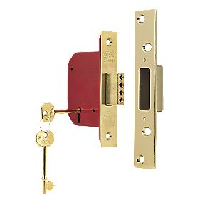 "ERA 5 Lever Mortice Deadlock Brass Effect "" / 64mm"