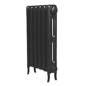 Cast Iron 660 Designer Radiator 2-Column Anthracite H: 660 x W: 521mm