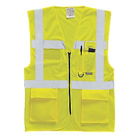 "Hi-Vis Executive Waistcoat Yellow Medium 40-41"" Chest"