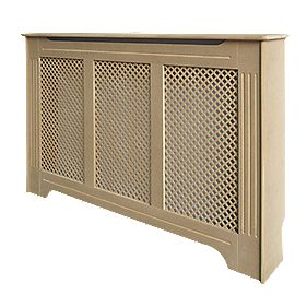 Victorian MDF Radiator Cabinet Medium Unfinished 1220 x 210 x 918mm