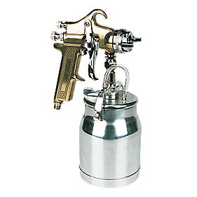 Professional Gold Suction Feed Spray Gun 1.5mm Nozzle
