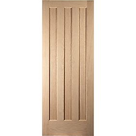 Jeld-Wen Aston 3-Panel Interior Door Oak Veneer 610 x 1981mm