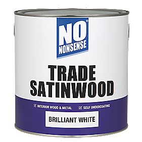 No Nonsense Trade Satinwood Brilliant White 2.5Ltr