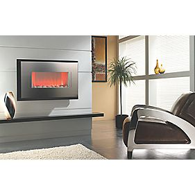 Focal Point Cascara Stainless Steel Contemporary Wall Hung Electric Fire