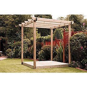 Single Deck & Pergola Kit 2.4 x 2.4 x 2.4m