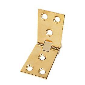 Counter Flap Hinge Polished Brass 38 x 102mm Pack of 10