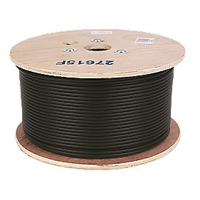 Labgear RG6 Satellite Coaxial Cable 250m Black