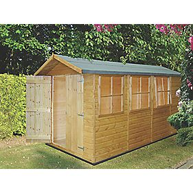 Shire Shiplap Apex Shed 13 x 7 x 7' (Nominal)