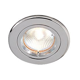 Robus Fixed Polished Chrome Mains Voltage Downlight 240V Pack of 10