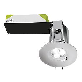 Halolite Fixed Fire Rated Integrated Dimmable LED Downlight Pol. Chr 240V