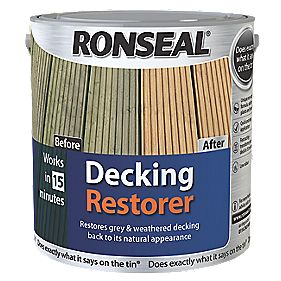 B and Q Decking Restorer Clear 2.5Ltr