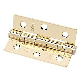 Eclipse Grade 7 Ball Bearing Hinge Electro Brass 76 x 51mm Pack of 2